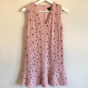 Ann Taylor Petite Pink Floral Lace Dress